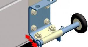 Модернизация нижних роликовых кронштейнов ворот Алютех серии Standard